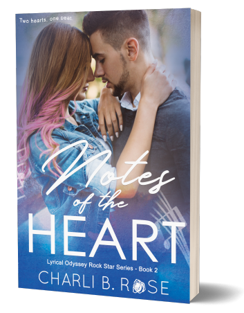 notes of the heart by charli b. rose - 3d - paperback 500